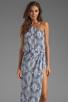 Image 1 of Karina Grimaldi Antonella One Shoulder Maxi Dress in Sky Print