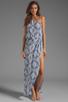 Image 2 of Karina Grimaldi Antonella One Shoulder Maxi Dress in Sky Print