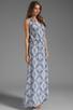 Image 3 of Karina Grimaldi Antonella One Shoulder Maxi Dress in Sky Print