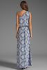 Image 4 of Karina Grimaldi Antonella One Shoulder Maxi Dress in Sky Print