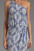 Image 5 of Karina Grimaldi Antonella One Shoulder Maxi Dress in Sky Print