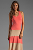 Image 1 of Karina Grimaldi Biscot Maxi Tank Dress Coral