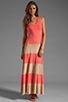 Image 2 of Karina Grimaldi Biscot Maxi Tank Dress Coral