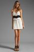 Image 2 of Karina Grimaldi Magnolia Combo Mini in Cream Black