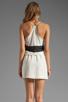 Image 4 of Karina Grimaldi Magnolia Combo Mini in Cream Black