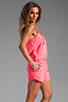 Image 3 of Karina Grimaldi Raffaela Solid Romper in Neon Pink