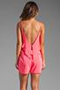 Image 4 of Karina Grimaldi Raffaela Solid Romper in Neon Pink
