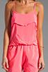 Image 5 of Karina Grimaldi Raffaela Solid Romper in Neon Pink