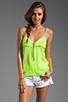 Image 1 of Karina Grimaldi Sophie Zipper Top in Neon Green
