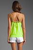 Image 2 of Karina Grimaldi Sophie Zipper Top in Neon Green