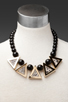 Image 4 of Roman Luxe Python Triangle Necklace in Gold