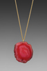 Image 1 of Kenneth Jay Lane 34' Gold Chain Pink Agate Pendant Necklace in Pink Agate