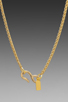 Image 4 of Kenneth Jay Lane 34' Gold Chain Pink Agate Pendant Necklace in Pink Agate
