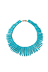Image 1 of Kenneth Jay Lane Turquoise Spike Necklace