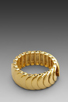 Image 3 of Kenneth Jay Lane Stretch Bracelet in Polished Gold