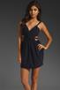 Image 1 of keepsake Secret Dancer Dress in Navy/Black