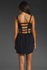 Image 5 of keepsake Secret Dancer Dress in Navy/Black