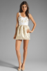 Image 2 of keepsake Bewildered Dress in Gold Print/Cream