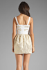 Image 4 of keepsake Bewildered Dress in Gold Print/Cream