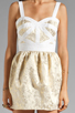 Image 5 of keepsake Bewildered Dress in Gold Print/Cream