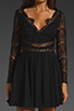 Image 3 of keepsake Paradise Stars Dress in Black