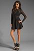 Image 2 of keepsake Walking on a Dream Long Sleeve Dress in Black/Black Lace