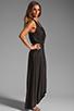 Image 3 of LA Made Draped Collar Maxi Dress in Black