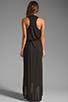 Image 4 of LA Made Draped Collar Maxi Dress in Black