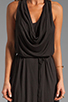 Image 5 of LA Made Draped Collar Maxi Dress in Black