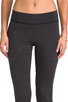 Image 4 of LA Made Lycra Jersey Legging in Anthracite