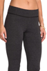 Image 5 of LA Made Lycra Jersey Legging in Anthracite