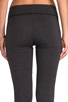Image 6 of LA Made Lycra Jersey Legging in Anthracite
