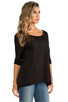 Image 2 of LA Made Micromodal Dropped Shoulder Top in Black