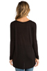 Image 3 of LA Made Micromodal Dropped Shoulder Top in Black