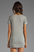Image 2 of LA Made Micromodal Drop Shoulder Tee in Heather Grey