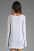 Image 2 of LA Made Supima Long Sleeve Boat Neck Tee in White