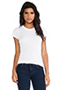 Image 1 of LA Made Tissue Jersey Short Sleeve Crew in White