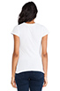 Image 3 of LA Made Tissue Jersey Short Sleeve Crew in White