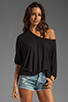 Image 1 of Lanston Pleated Top in Black