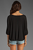 Image 3 of Lanston Pleated Top in Black