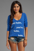 Image 1 of Local Celebrity Hey Babe Pullover in Royal Duran