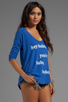 Image 2 of Local Celebrity Hey Babe Pullover in Royal Duran