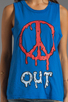 Image 3 of Local Celebrity Peace Out Muscle Tank in Royal