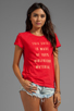 Image 2 of Local Celebrity Girlfriend Material Tee in Cranberry Schiffer