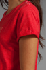 Image 5 of Local Celebrity Girlfriend Material Tee in Cranberry Schiffer