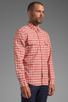 Image 2 of life/after/denim North Beach Soma Check Shirt in Coral