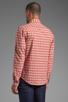 Image 3 of life/after/denim North Beach Soma Check Shirt in Coral