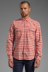 Image 4 of life/after/denim North Beach Soma Check Shirt in Coral