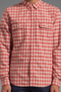 Image 5 of life/after/denim North Beach Soma Check Shirt in Coral
