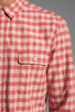 Image 6 of life/after/denim North Beach Soma Check Shirt in Coral